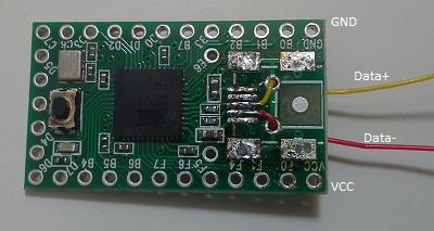 Figure 1:  USB Header Removed
