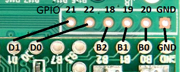 Figure 3:  Line-up of GPIO Pins with Teensy