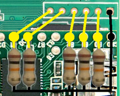 Figure 4:  Mock-up of GL-iNet the Teensy with the Resistors